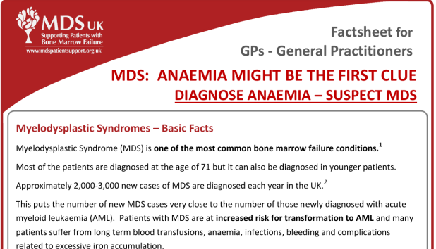 MDS Fact Sheet